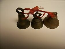 3 vintage Bells with clappers; s.s.s. india 24, other india?, other unknown