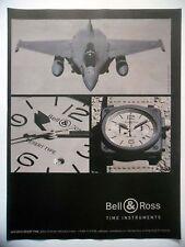 PUBLICITE-ADVERTISING :  BELL & ROSS BR03 Desert Type 2014 Montres,Avions,Rafale