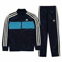 adidas Kids Boys Tiberio Tracksuit Junior Poly Zip Stripe Warm Colour Block