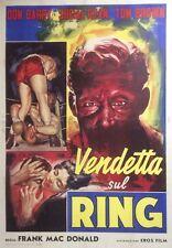 """""""RINGSIDE"""" Affiche originale italienne entoilée (Frank MAC DONALD / Don BARRY)"""