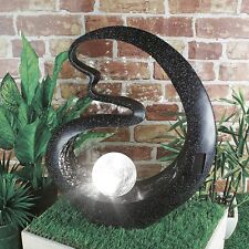 Solar Powered Medusa Garden Ornament Crackle Glass Ball Decor Waterproof Light