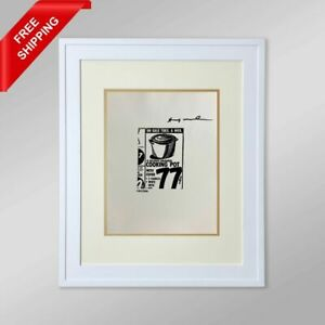 Andy Warhol - Cooking Pot,  Original Hand Signed Print with COA