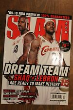 SLAM-2009-LeBron & Shaq-Cleveland Cavs-Dream Team-Carter & Kemp foldout poster