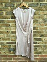 ALLSAINTS Breeze Dress Size UK 2 | EU 30 Rose Pink Sleeveless Hook Shift