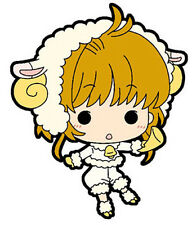 Card Captor Sakura Sakura w/ Sheep Costume Mini Rubber Strap New