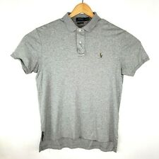 Polo by Ralph Lauren Mens Size Medium Pima Soft Touch Light Grey 2 Button Polo