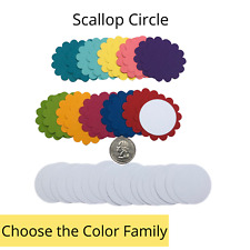 40 Genuine Stampin Up Paper Cardstock Scallop Circle Punch Shape Die Cut Tag