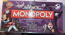 Monopoly Tim Burton's The Nightmare Before Christmas by Hasbro ~Read Description
