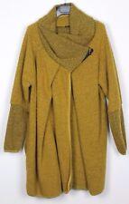 NEU Übergröße Damen Wollmischung Lagenlook Cocoon Cardigan Jacke Mantel 18 20 22