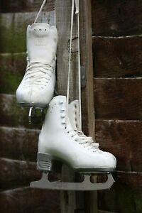 Risport child white ice skates size 3