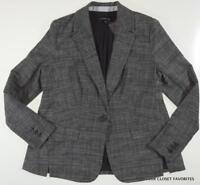 Lane Bryant Textured Blazer Jacket 14 16 24 28 Career Black/Off-White 1x 3x 4x