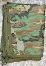 Woodland Camo Poncho liner Woobie Blanket US Military Surplus army military