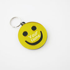 Smiley Face Key Chain - Personalized Free - Happy Face,Kids Backpack Tag,Keyring