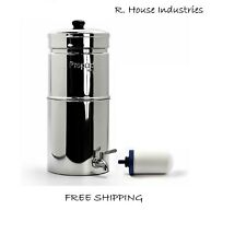 "Propur Nomad Water Filtration Gravity System Stainless 1 ProOne G2.0 7"" Filter"