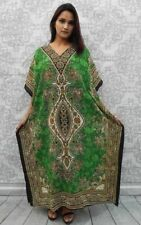 Long Kaftan dress Boho Maxi,Plus Size Women Caftan Top Dress Green Made in India