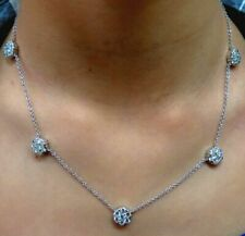 Round White Gold Fine Diamond Necklaces & Pendants