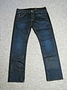 G-STAR Morris Low Straight Fit Mens Jeans 3D Raw Blue Size UK W36 L32