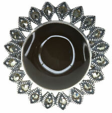 Onyx Marcasite Fine Rings