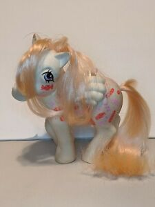 Vintage G1 My Little Pony Twice As Fancy Yum Yum 1984 White Flying Candy
