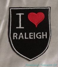 Embroidered Retro Vtg Style I Love Raleigh North Carolina NC State Patch Iron On