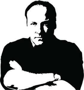 Tony Soprano VINYL DECAL STICKER HBO the sopranos James Gandolfini