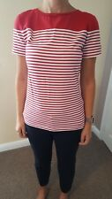 Barbour ladies, women's striped short sleeve T shirt. Size 12