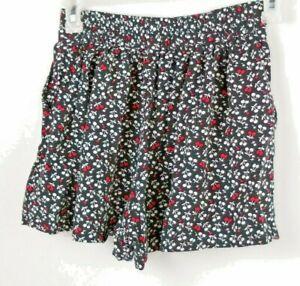 Aeropostale Juniors Petite Small Cherry Print Black Red White Cloth Shorts WXS1