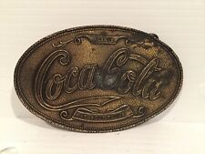 Vintage ***COCA-COLA*** Oval belt Buckle Lewis Buckles Chicago