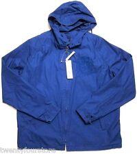 NWT $250 Mens Lacoste Cotton Windbreaker Jacket in Capitaine Blue sz 54 / L