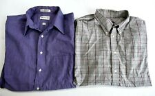 Lot of 2 Van Heusen Dockers Men 16 1/2 34/35 Large Long Sleeve Dress Shirts
