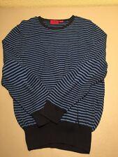 VTG HUGO BOSS Men's Stripes Pullover Sweater Shirt M/L?  Elbow Patch Pattern