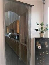OctoRose Long String Thread Fringe Curtain Panel Divider 40x110 Inch Brown (K)
