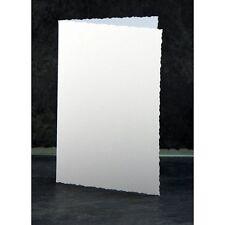 Craft RU 50 x C6 Deckled Tarjeta De Borde Hojas en Blanco & Sobres blanco