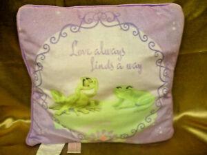 "Plush Cinderella Pillow - 13"" x 13"" - Lilac - Disney Princess N#18389"