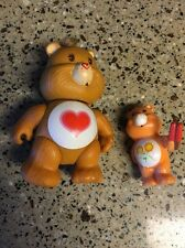 "Vintage Kenner Care Bears TENDER HEART BEAR 3"" Figurine + Mini Friendship Bear"