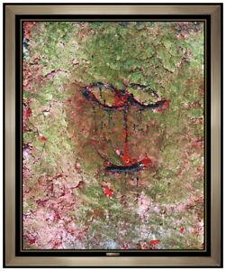 JAMALI Original FRESCO TEMPERA PAINTING On Board Signed Portrait Modern Abstract