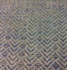 Colefax Fowler Geometric Tweed Upholstery Fabric Lambert Petrol 1.90 yd F4135-02