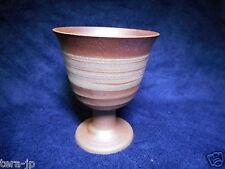 Brush winding painted Wine Glass Mino-Yaki pottery Japan