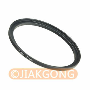 72mm-77mm 72-77 mm Step Up Filter Ring Stepping Adapter