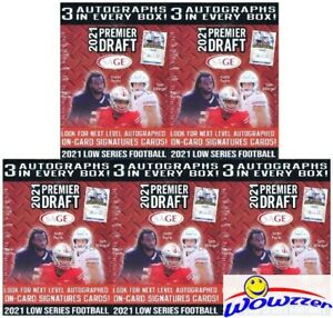 (5) 2021 Sage Football EXCLUSIVE Factory Sealed Blaster Box-15 AUTOS+50 PARALLEL