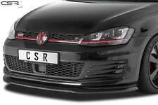 Cup Spoiler Front Ansatz Lippe Schwert für VW Golf 7 VII GTI Hochglanz 2013-2017
