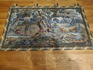 """Belgium Flemish Tapestries - 18th century scene - 30""""h x 50""""w"""
