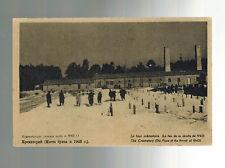 Mint 1940s Auschwitz Poland Concentration Camp real picture Postcard Crematorium