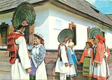 Romania Memorial Museum of George Cosbuc Postcard peacock feather hat folklore