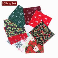 Christmas Poly Cotton Fabric Fat Quarter Layer Cakes Bundles Craft XMas