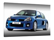 Renault Clio V6 - 30x20 Inch Canvas - Framed Picture Print Art
