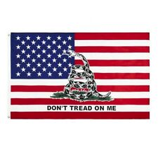 3x5Ft Flag Don't Tread on Me American Flag Gadsden Timber Revolution Patriot
