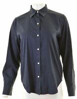 RALPH LAUREN Womens Shirt Medium Blue Cotton  NM60