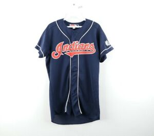 Vintage 90s Mizuno Mens Small Cleveland Indians Japan Baseball Jersey Stitched