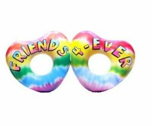 Huge Double Heart Friends 4-Ever for Two Pool Float